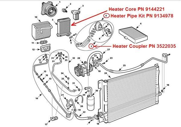 volvo 850 heater core replacement 2 : heater core diagram - findchart.co