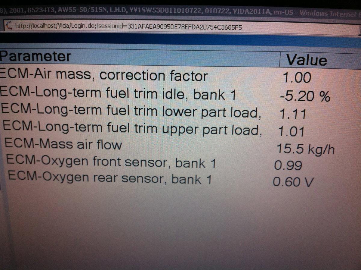 02 Sensor Fuel Filter Vida Dice Data Included 2001 Volvo S80 Oxygen Location Img 0274