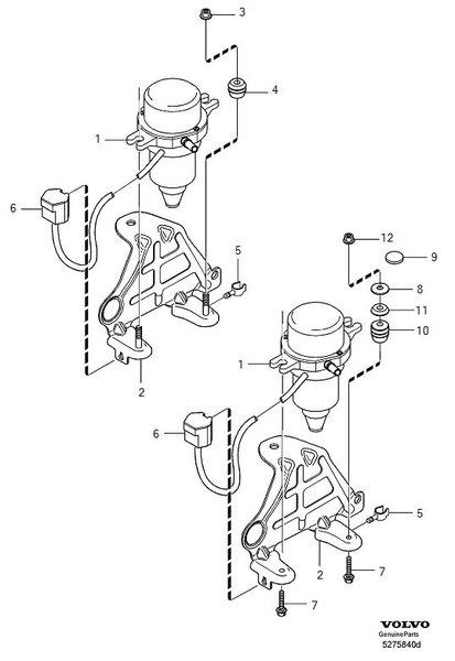 Location of the vacuum pump relay