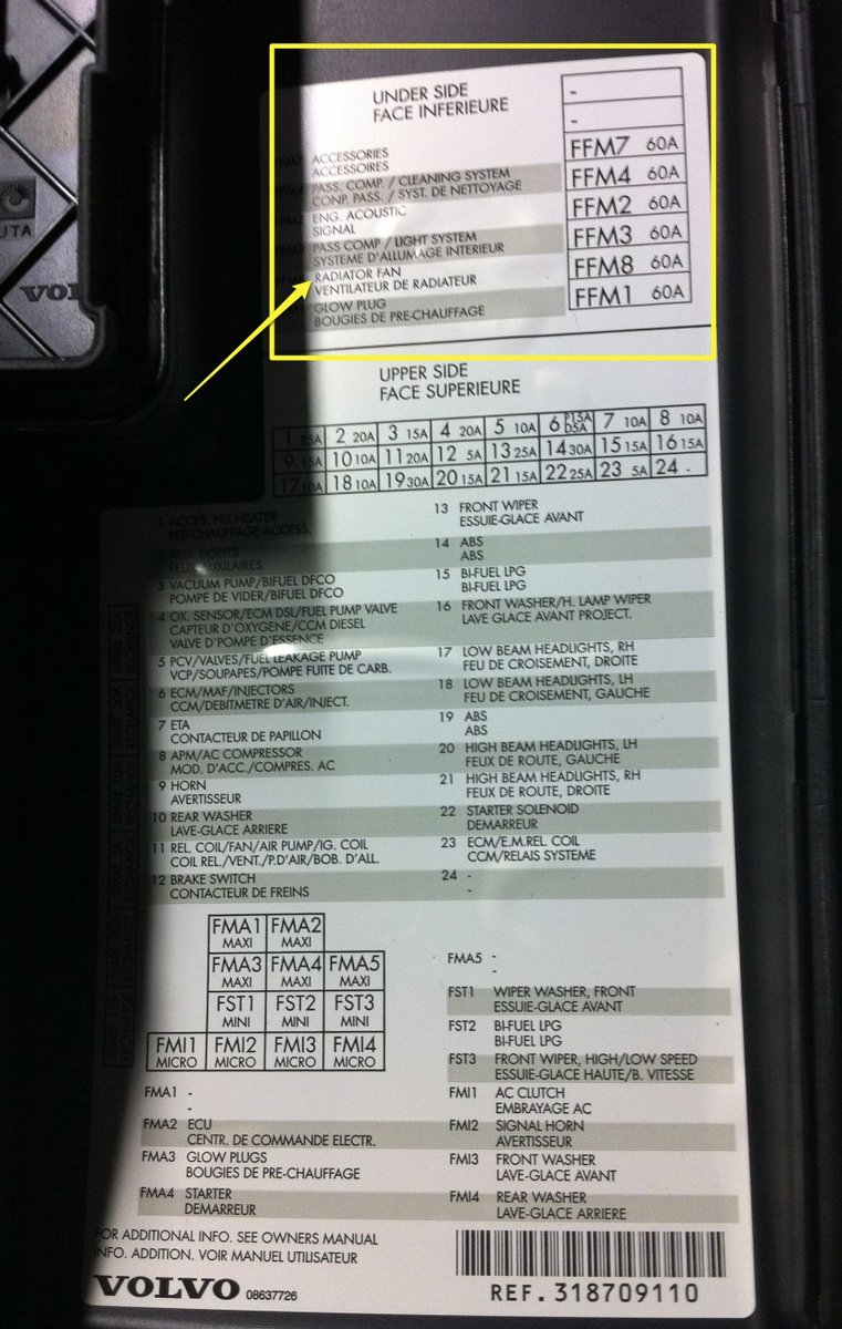 Cooling Fan Running Forever 2010 Volvo Xc90 Fuse Diagram Img 0297