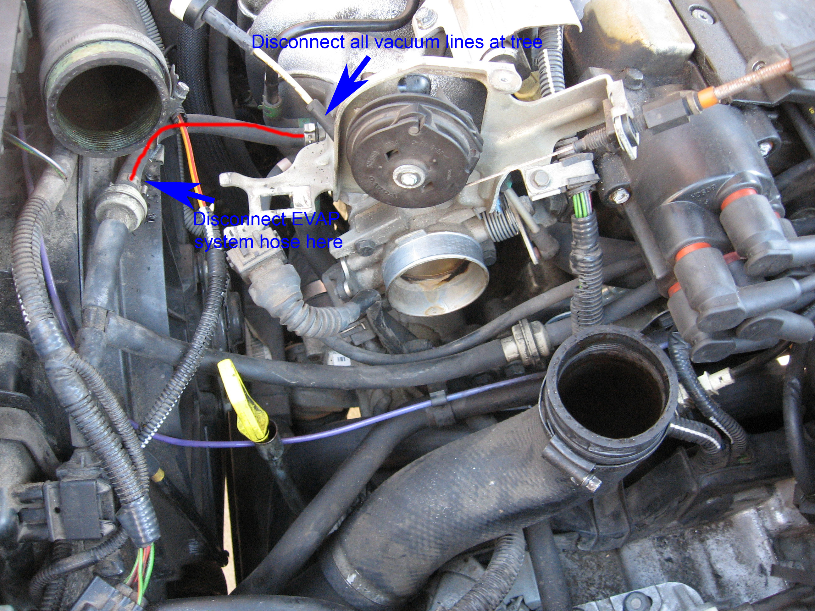 pcv system repair on a volvo 5 cylinder 5 jpg