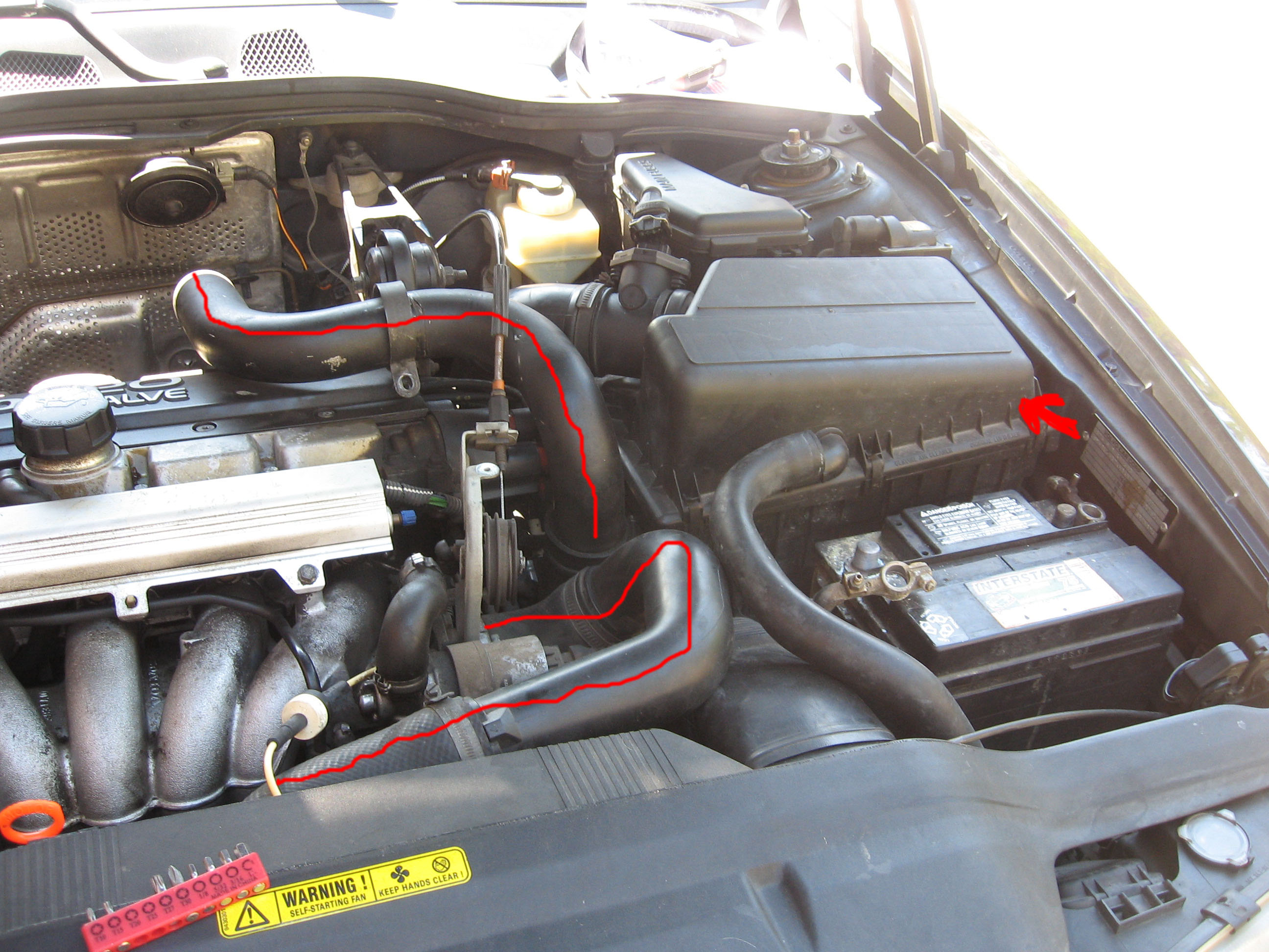 Ford Focus Power Steering Pump additionally 2016 GMC Sierra 2500HD Denali additionally 2005 6 0 Engine Rear Oil Leak further Chevy Valve Cover Wire Looms additionally Volvo 240 Flame Trap. on pcv valve engine car parts