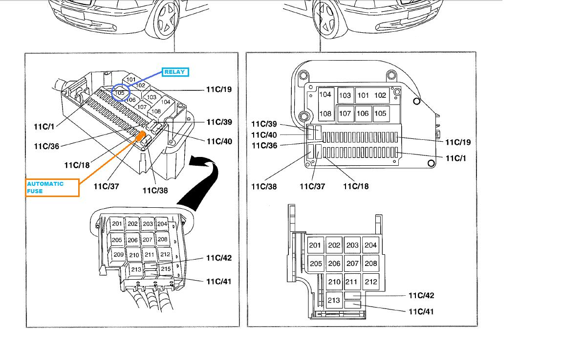 S70 Power window sunroof breaker overload problem