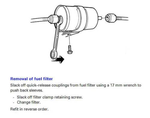 replace fuel filter on 1995 960 - Volvo Forum + help for owners | Volvo 240 Fuel Filter Location |  | Matthews Volvo Site