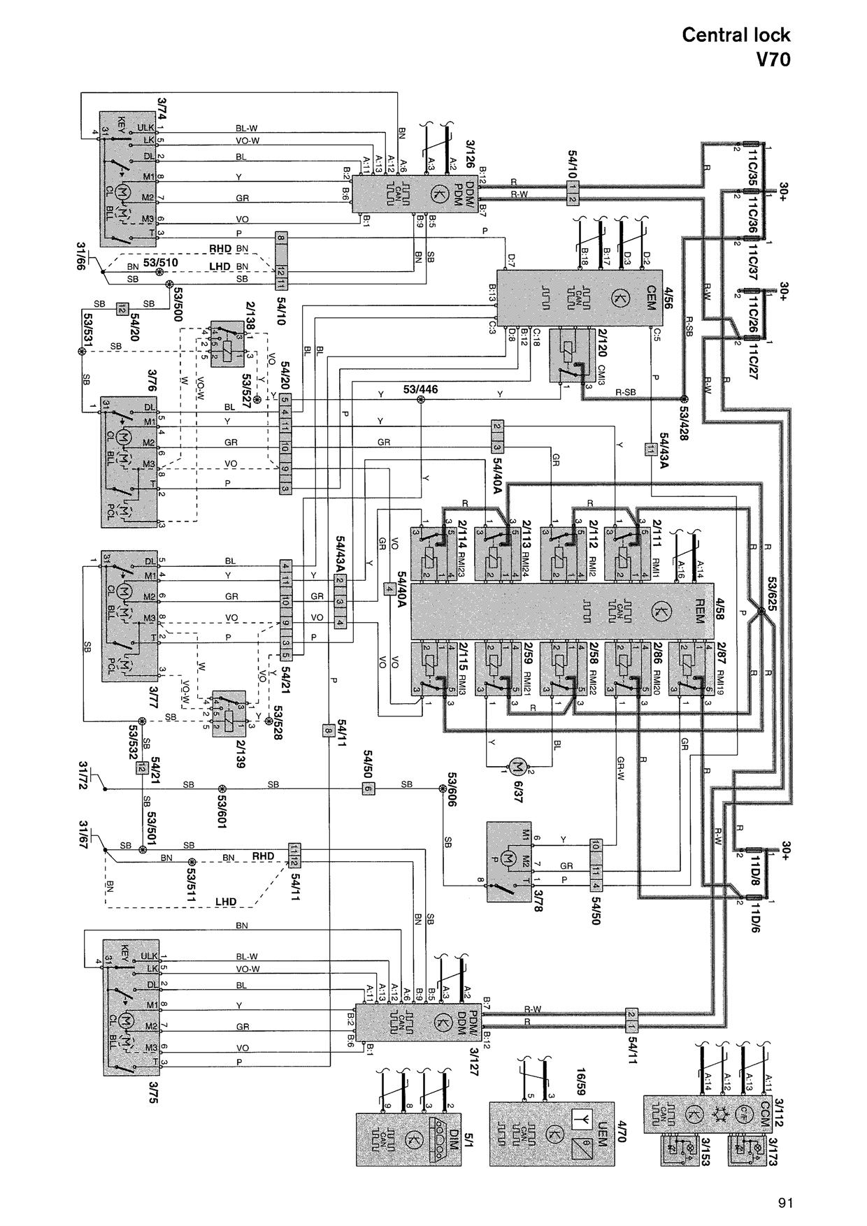 Volvo V70 Wiring Diagram V Radio C70 Image On 2000