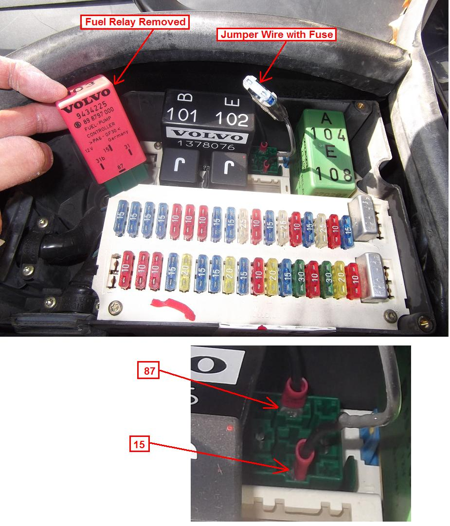 98 Volvo S70 Fuel Pump Relay Wiring