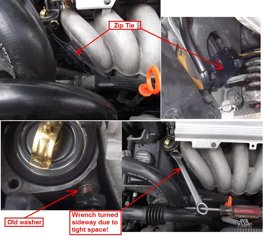 DIY: 1998 V70 ECT (Engine Coolant Temp) Sensor Replacement