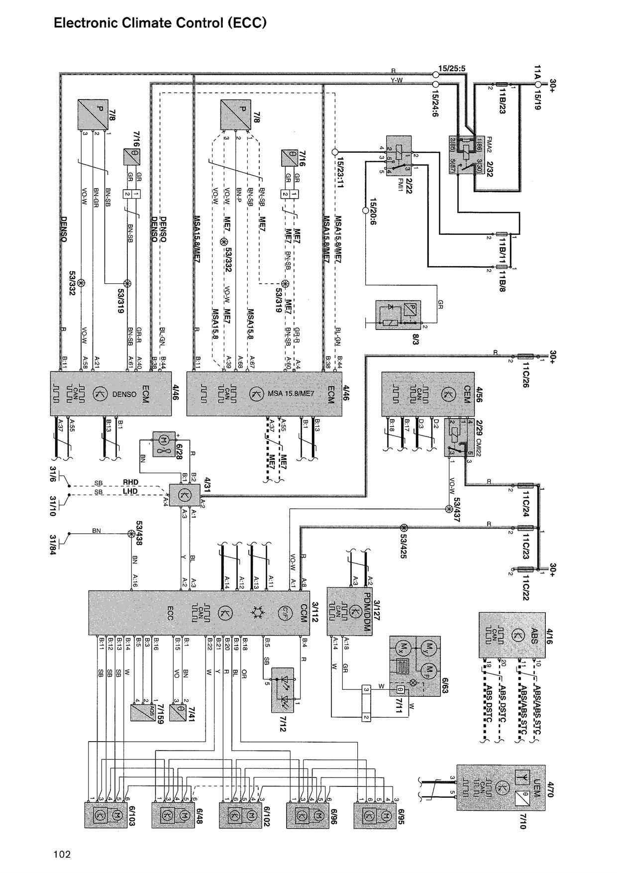 2000 volvo s80 relay diagram