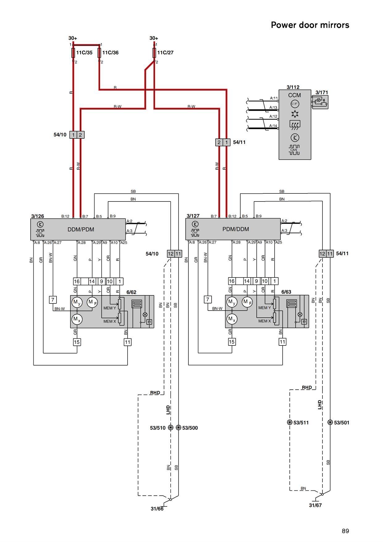 Passenger Door Control Module Issue | Volvo S60 Window Wiring Diagram |  | Matthews Volvo Site