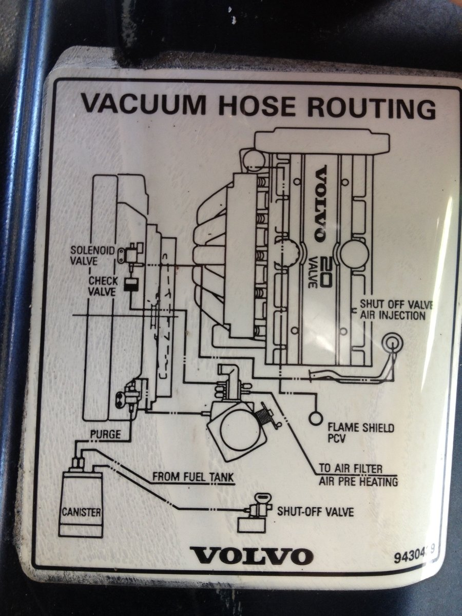 Finally A Vacuum Hose Diagram Page 3 Volvo 960 Engine Re