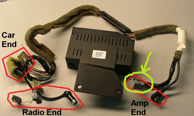 ''amp end'' cable (speakers) pinout please:) - volvo forums