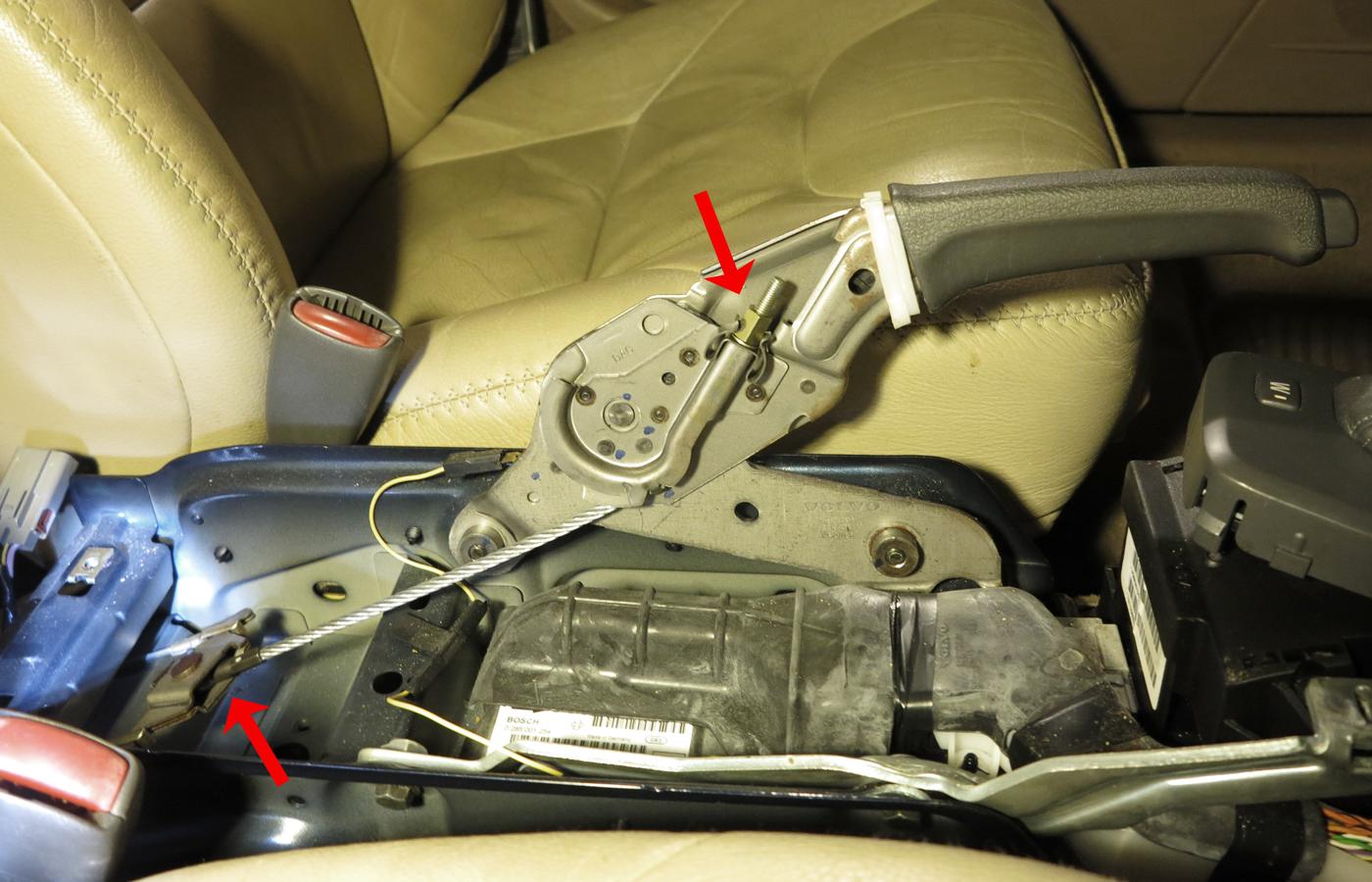 2001 V70XC Parking Brake Cable Adjustment
