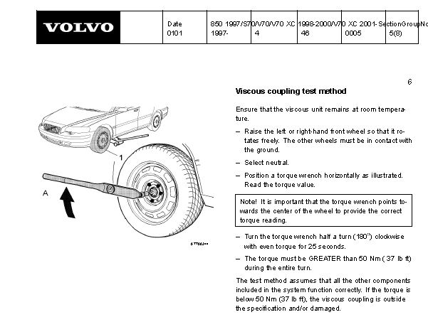 1998 V70XC Viscous Coupler VS Angle Gear Symptoms - Volvo Forums