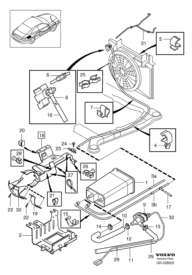 1999 V70na P0455 Evaporative Emission Gross leak error
