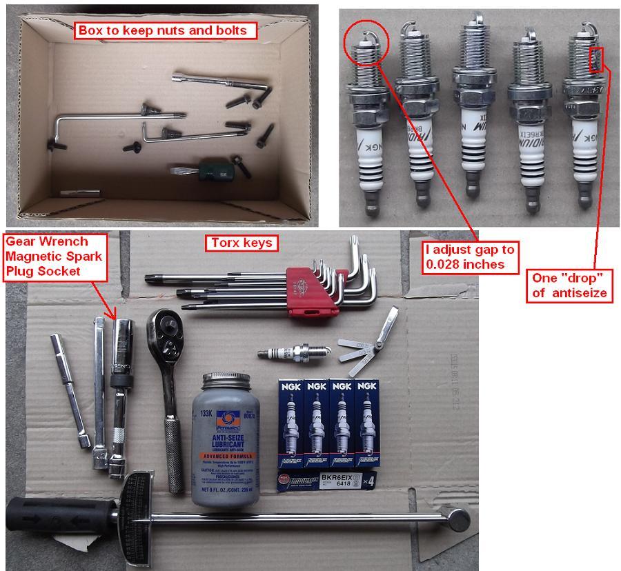 diy  2005 xc90 2 5t spark plugs using ngk iridium bkr6eix