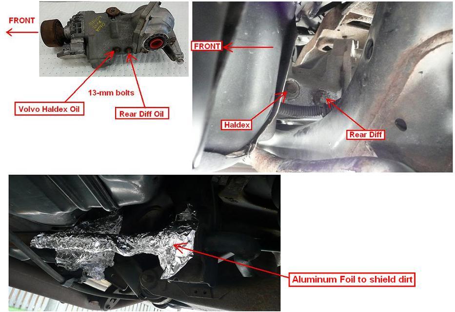 DIY: 2005 Volvo XC90 2 5T: ATF, Angle Gear, AOC/RDiff Fluid