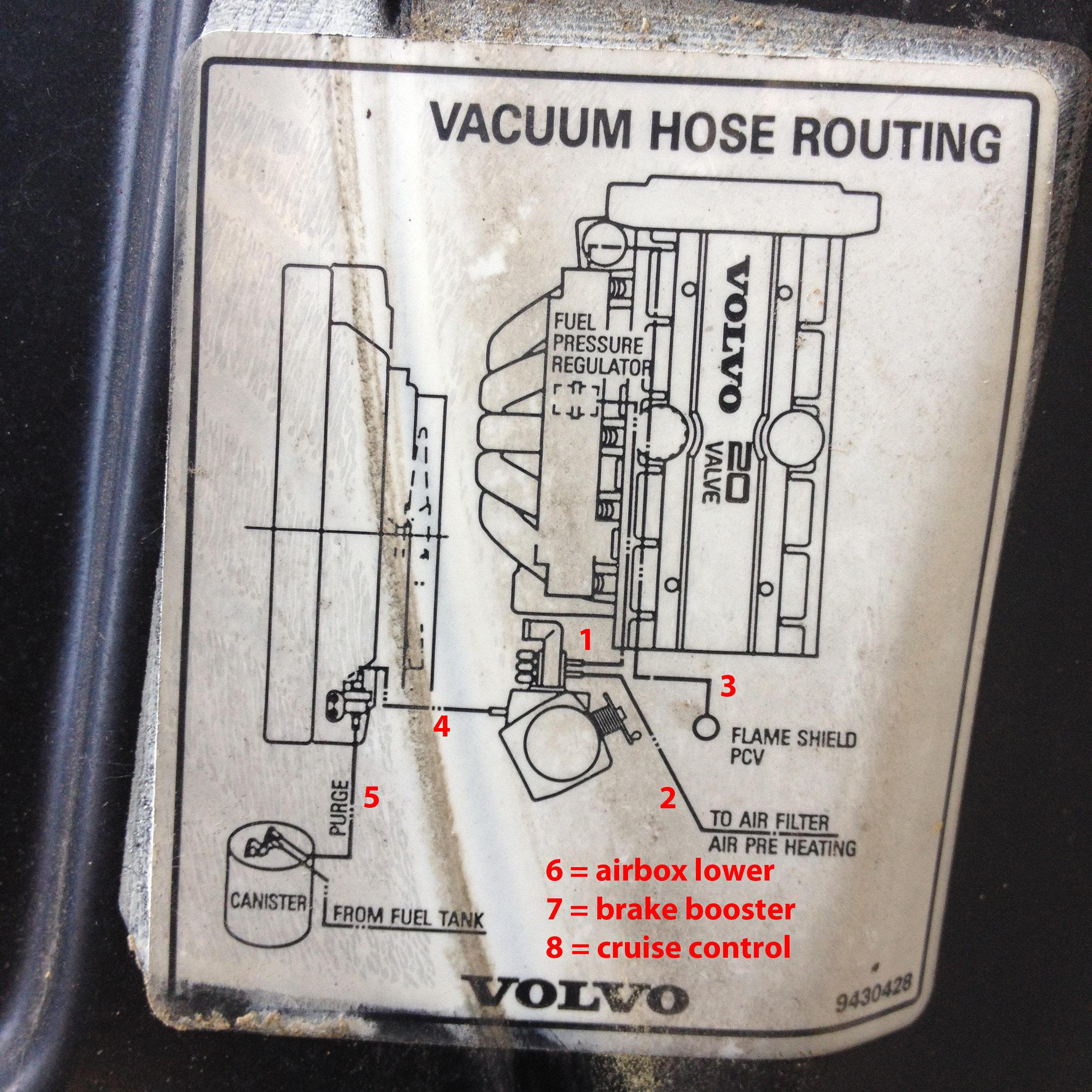 850 And S V C70 Non Turbo Vacuum Lines Exhaust Diagram Volvo V70 Parts Img 1985 Annot