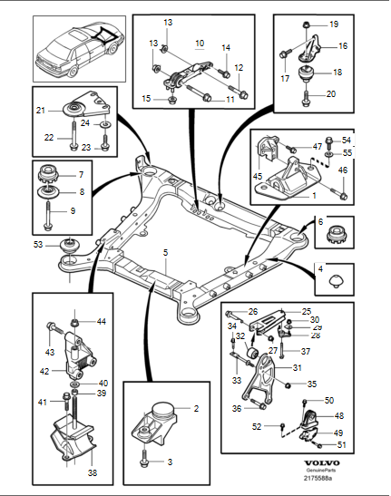 2000 V70XC engine mount question