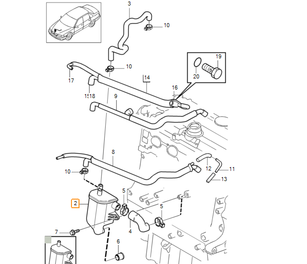 2000 V70 Xc Vaccum Diagram: 1998 S70 P0171 Vacuum Leak, Bad Hoses 9155862
