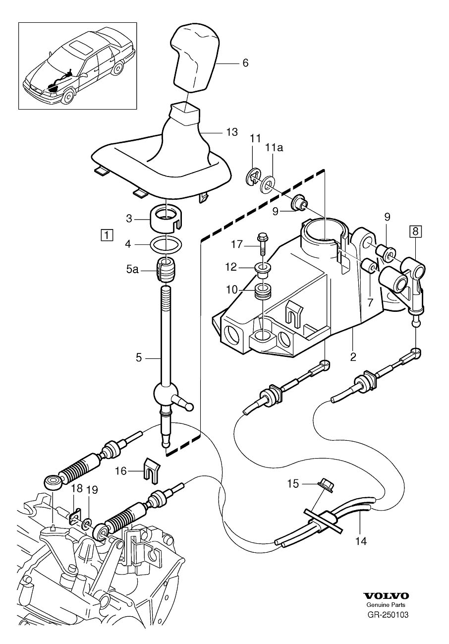 95 850 Trouble Attaching Manual Shift Cables