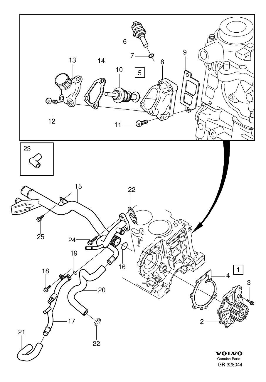 2007 V50 D5 2.4 High engine temp intermittent message   Volvo V50 Engine Diagram      Matthews Volvo Site