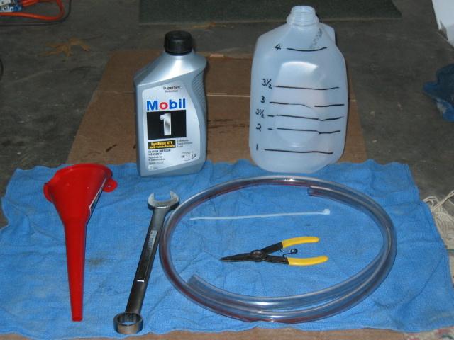Trans fluid flush tools