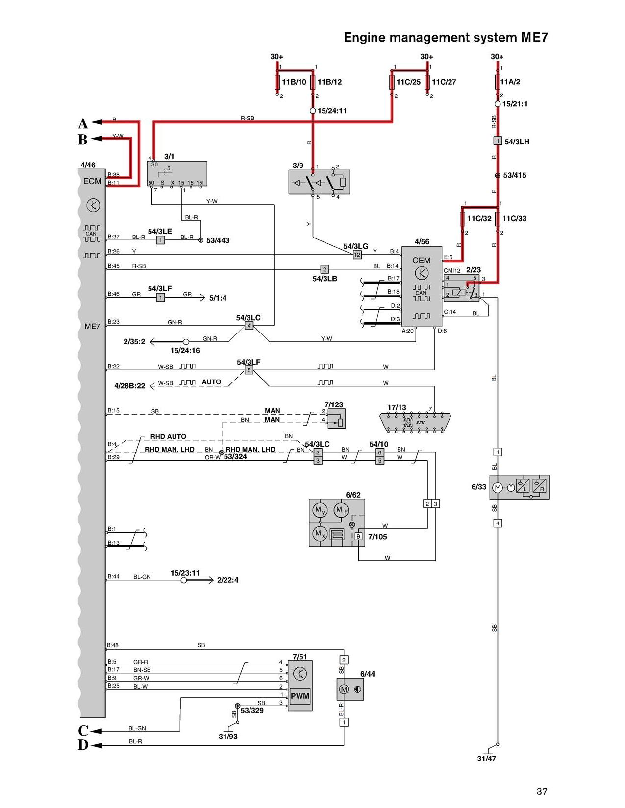 2002 V70xc Finding The Fuel Pump Control Module 2004 Volvo S80 Electrical Wiring Diagram Cem Me7