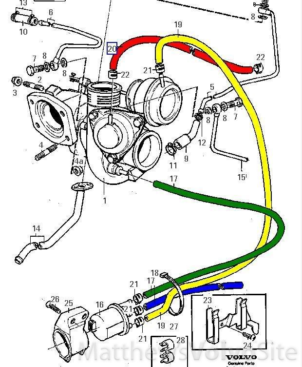 Volvo 850 Transmission Solenoid: 1995 850T Does This Turbo Hose Go To Air Box? SOLVED