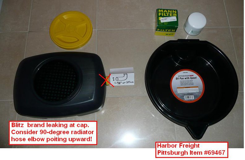 Harbor Freight Pittsburgh Oil Drain Pan Review Volvo Forums