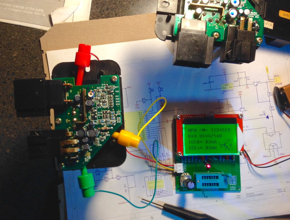 Ecc Power Stage Transistor Measurement Using A Tester Good Bad 9134932 Volvo Blower Motor Test Result Unit