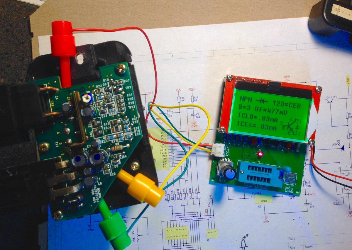 Ecc Power Stage Transistor Measurement Using A Tester Good Bad 9134932 Volvo Blower Motor Test Result Unit B