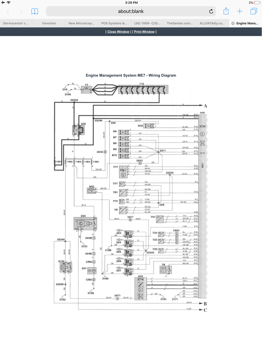 1999- C/S/V70 Troubleshooting Coil with ETM system ME7