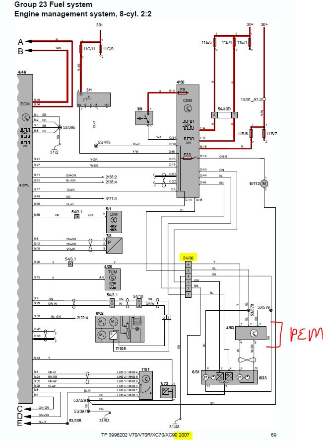[SCHEMATICS_4LK]  XC90 V8 Intermittent fuel pressure cutout (kinked fuel pump line) - Page 2  - Volvo help, forum + news for all models | Volvo Wiring Diagram Xc90 |  | Matthews Volvo Site