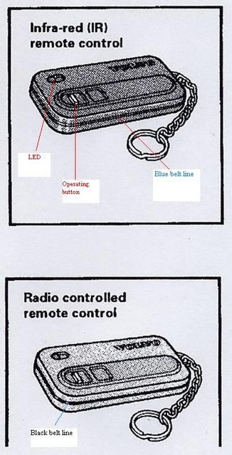 1994 volvo 960 alarm  keyless remote fob