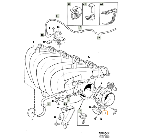 S70 1998 ?? Name of plastic connector to throttle body