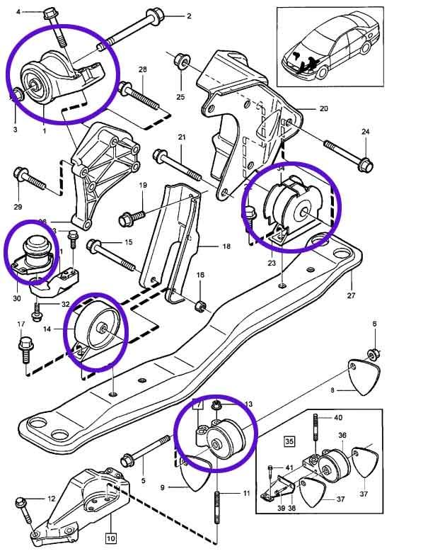 motor mount question | Volvo V40 Engine Diagram |  | Matthews Volvo Site