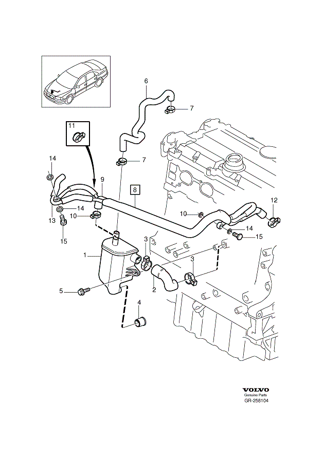 [2001 V70 2.4T] Oil leak, intake side, lower engine / oil