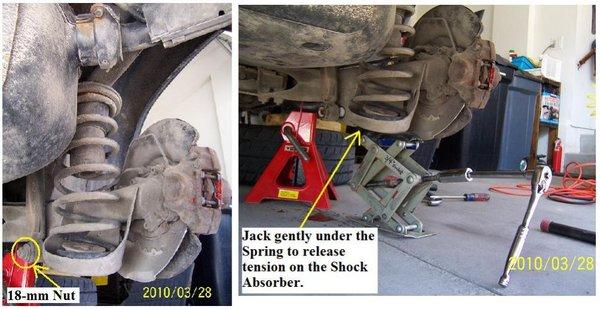 V70 rear shock