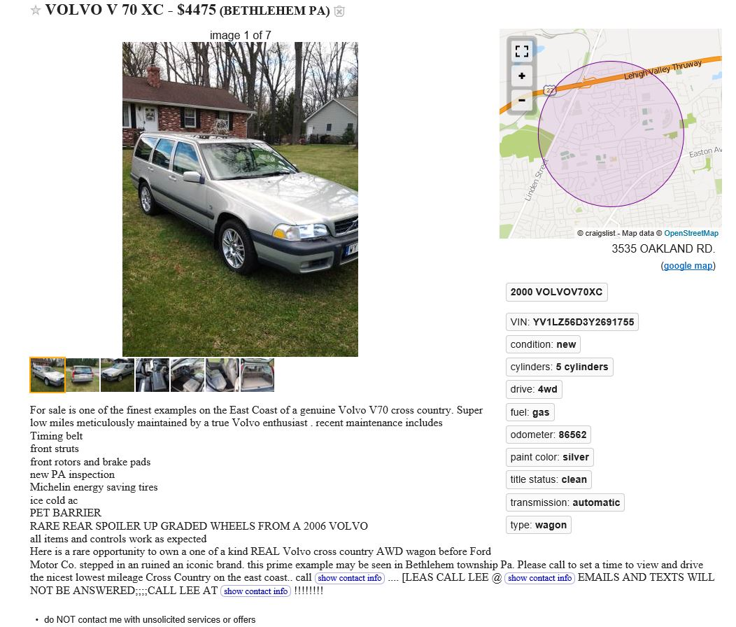 Volvo Findings! (What have you found on Craigslist?) - Page 17