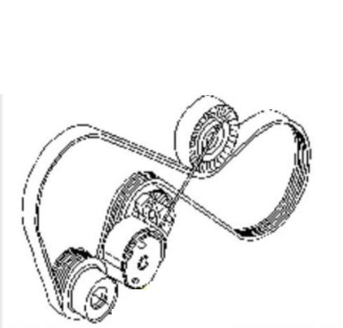 2009 XC90 Serpentine belt diagram