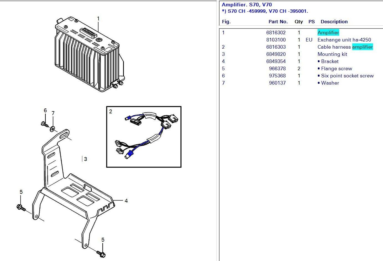 Subwoofer Wire Diagram For Volvo V70r