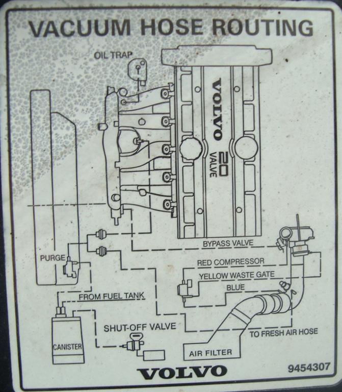 V/S 70 99-00 Vacuum hose diagram