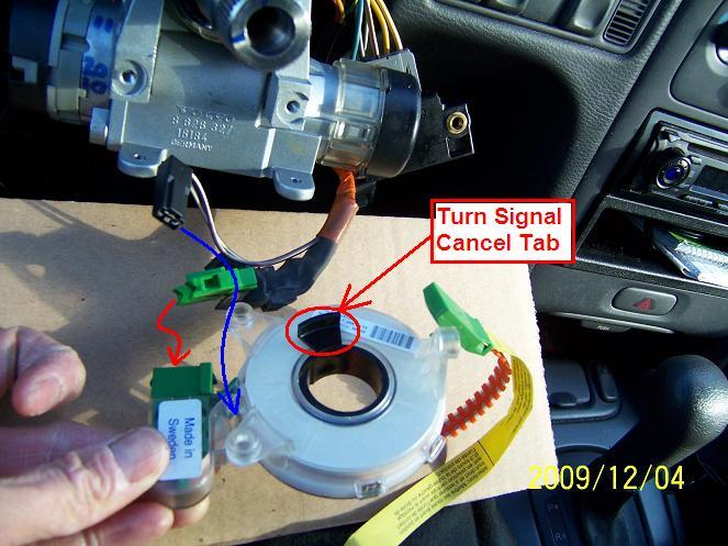 diy 1998 volvo v70 clockspring airbag horn contact unit 98 volvo clockspring 06 jpg