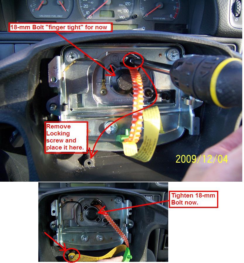 DIY: 1998 Volvo V70 Clockspring (Airbag/Horn Contact Unit) - Volvo Forum +  help for owners | Volvo 850 Horn Wiring |  | www.matthewsvolvosite.com