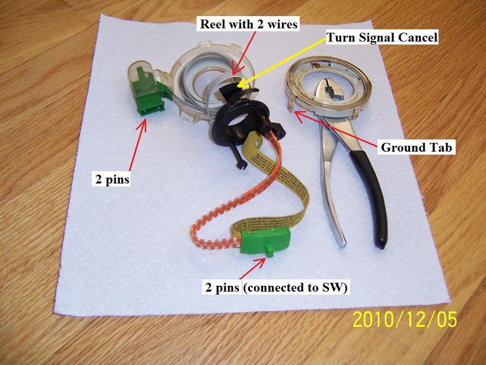 diy 1998 volvo v70 clockspring airbag horn contact unit 98volvoclockspring10 jpg