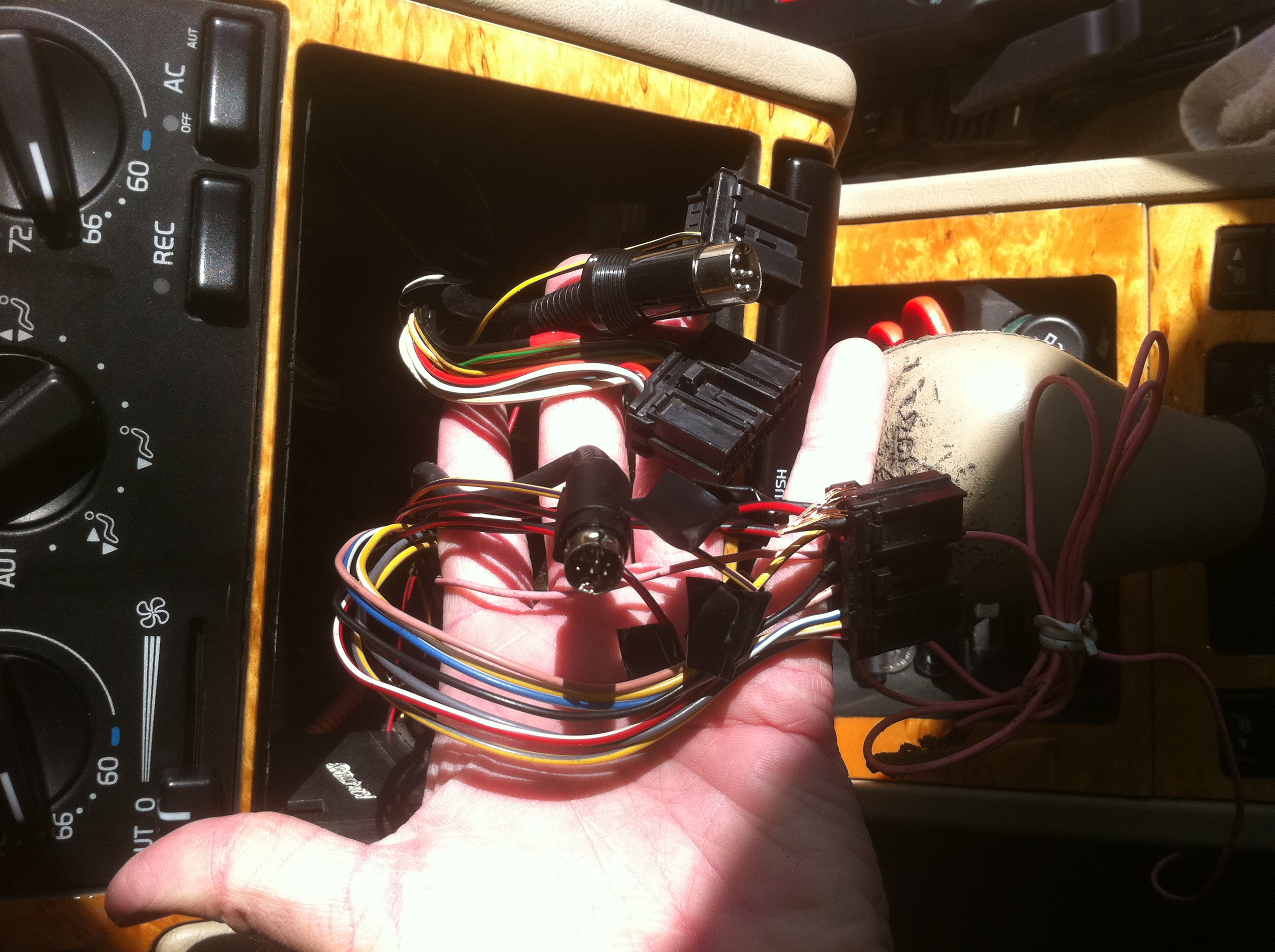 volvo 940 stereo wiring harness volvo image wiring 1997 850 r radio wires are a hot mess on volvo 940 stereo wiring harness