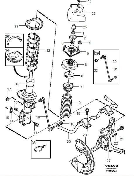 2003 S80 suspension noise
