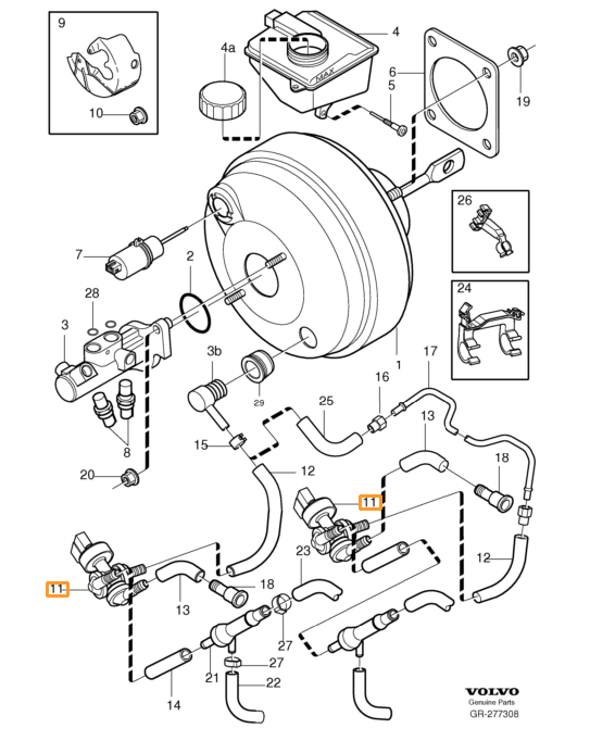 volvo xc90 ke booster vacuum diagram  volvo  auto wiring