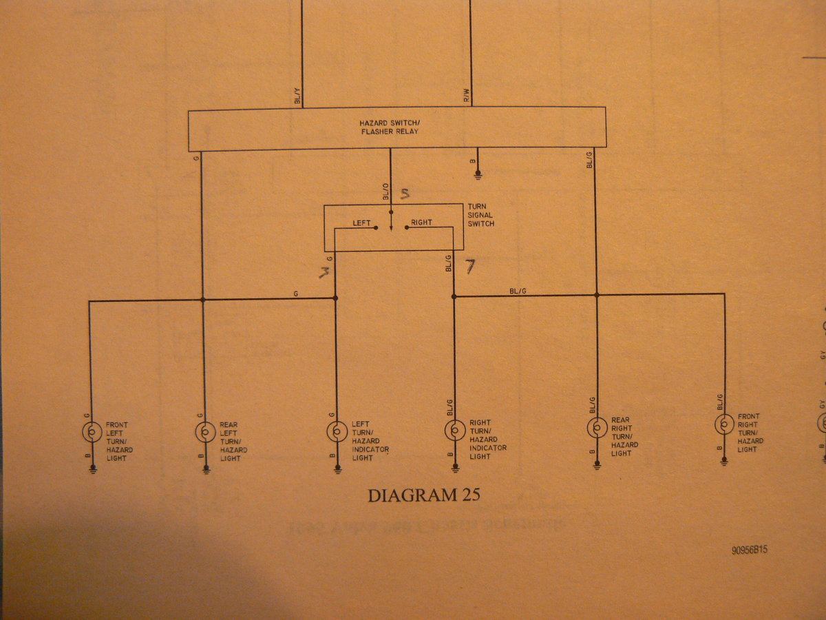 S90 Turn Signal Flasher Relay Location Switch Wiring Diagram