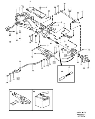 AWD 1998 Volvo rear suspension diagram